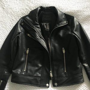 BLANKNYC Fitted Faux Leather Moto Jacket
